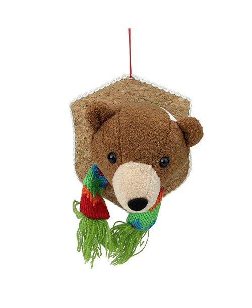 Northlight Stuffed Bear Head Plaque Christmas ornament