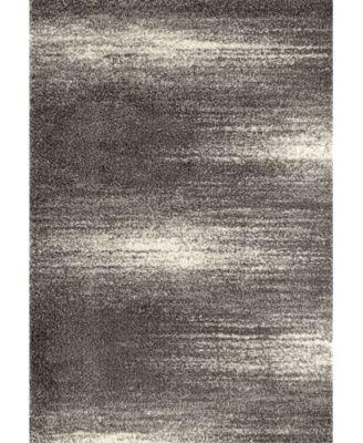 "Bahia Shag Bas2828 Gray 3'3"" x 5' Area Rug"