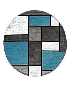 """Montane Mon106 Blue 6'6"""" Round Area Rug"""