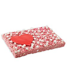 Strawberry I Love You Party Bar Giant Rice Krispie Treat