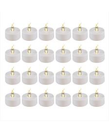 Lumabase Battery Operated LED Tea Light Candles, Set of 24