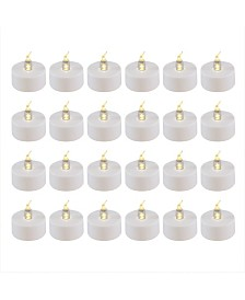 Lumabase Battery Operated LED Tea Light Candles, Set of 24