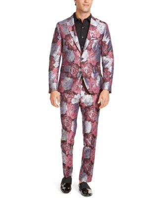 INC Men's Slim-Fit Smoked Rose Jacquard Blazer, Created For Macy's