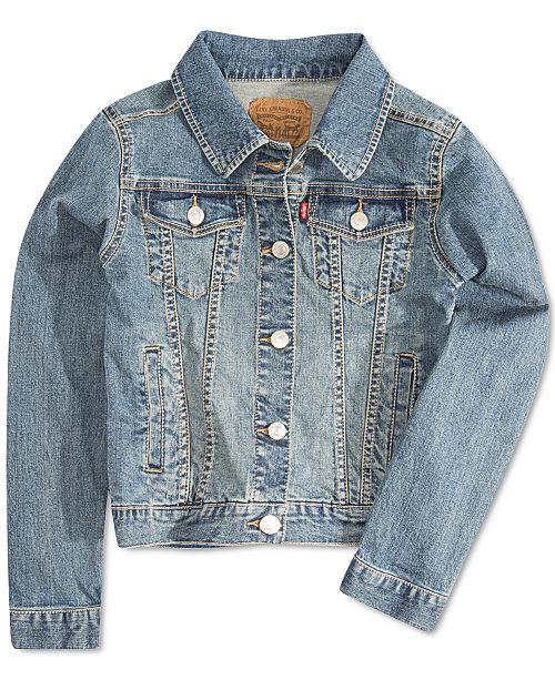 Levi's Little Girls Snap Button-Front Denim Jacket