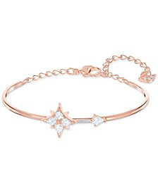 Rose Gold-Tone Crystal Star Bangle Bracelet