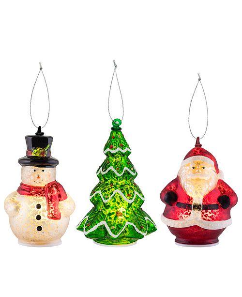 Mr. Christmas Mini Santa Figurines - Set of 3