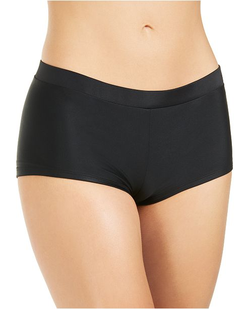 Hula Honey Juniors' Solid Boy Short Bottoms, Created For Macy's