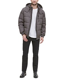 Men's Soft Touch Hooded Bomber Puffer Jacket