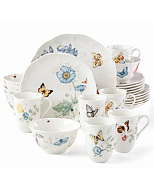 Lenox Butterfly Meadow 24-PC Dinnerware Set Service for 6, Created for Macy's