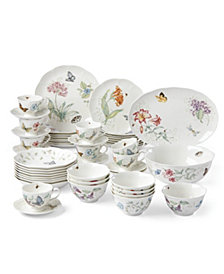 Lenox Butterfly Meadow 50-PC Dinnerware Set, Created for Macy's, Service for 8