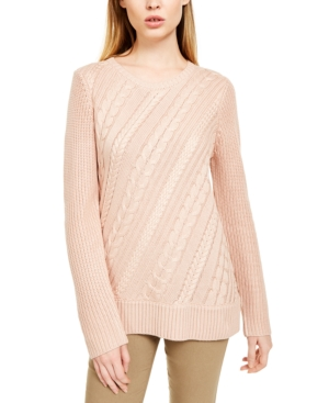 Calvin Klein Knits CABLE-KNIT CREWNECK SWEATER