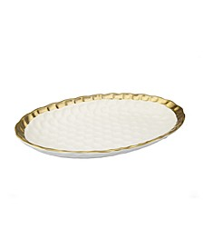Oval Tray with Rim