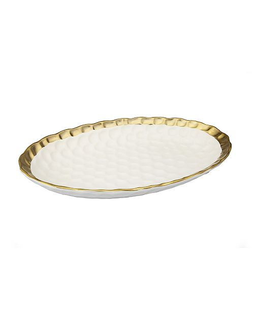 Classic Touch Oval Tray with Rim