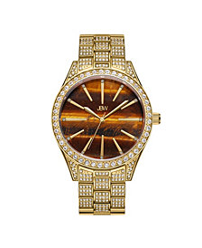 JBW Women's Cristal Gem Diamond (1/8 ct. t.w.) Watch in 18k Gold-plated Stainless-steel Watch 39mm