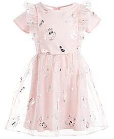 Little Girls Ruffled Mesh Dress