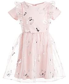 Toddler Girls Ruffled Mesh Dress