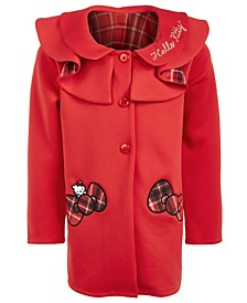 Little Girls Plaid-Bow Coat