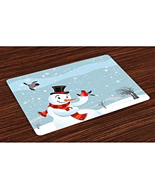 Snowman Place Mats, Set of 4