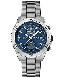 Men's Chronograph Vela Stainless Steel Bracelet Watch 44mm