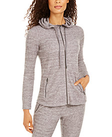 Ideology Waffle-Knit Zip Hoodie, Created for Macy's
