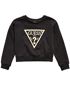 Big Girls Logo-Print Glitter Sweatshirt