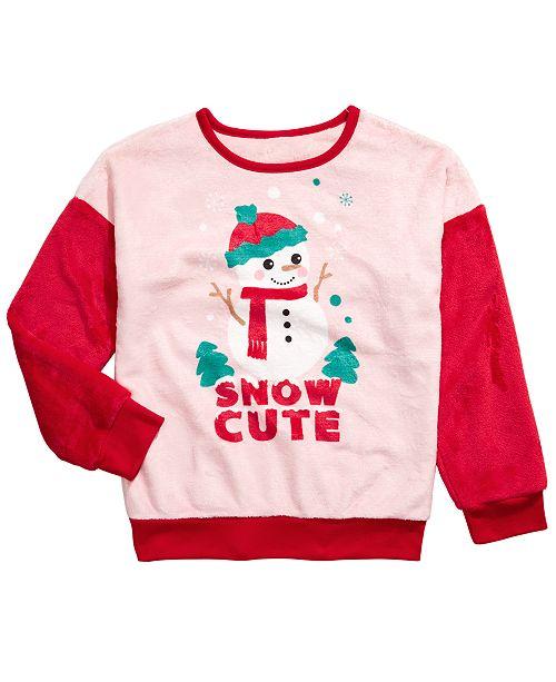 Evy of California Big Girls Snow Cute Sweatshirt