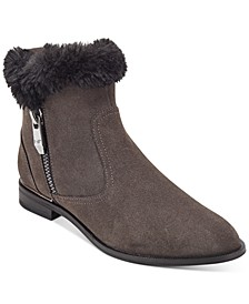 Rasill Faux-Fur Cuffed Booties