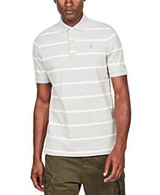 Men's Fascia Striped Polo Shirt