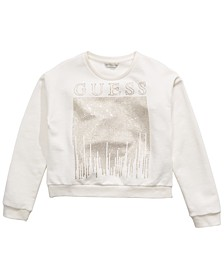 Big Girls Cotton Rhinestone Sweatshirt