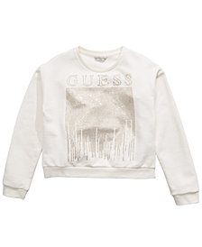 GUESS Big Girls Cotton Rhinestone Sweatshirt