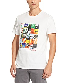 Men's Street Sign Collage Logo Graphic T-Shirt