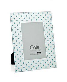 """Blue Polka dot Frame - 4"""" x 6"""""""