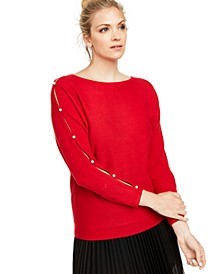 Cashmere Split-Sleeve Sweater, Created for Macy's