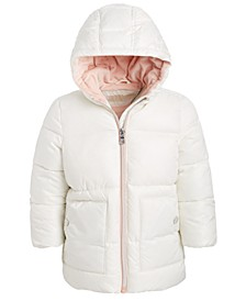 Baby Girls Hooded Stadium Puffer Jacket