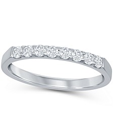 Round Diamond (1/4 ct. t.w.) Shared Prong Band in 14K White Gold