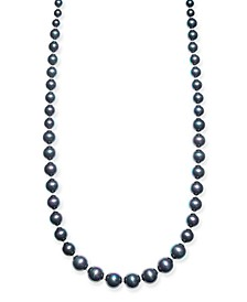 """Silver-Tone Imitation Black Pearl Graduated 42"""" Strand Necklace, Created For Macy's"""