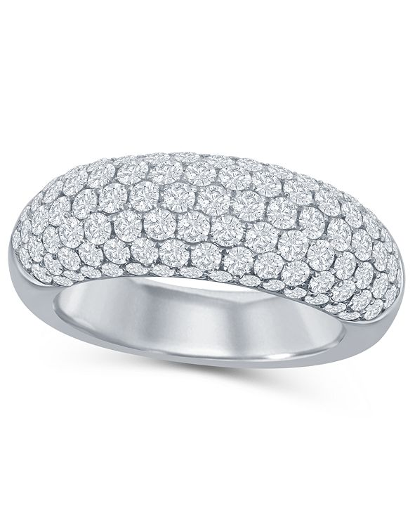 Macy's Diamond (2 ct. t.w.) Micro Pave Band in 14K White Gold