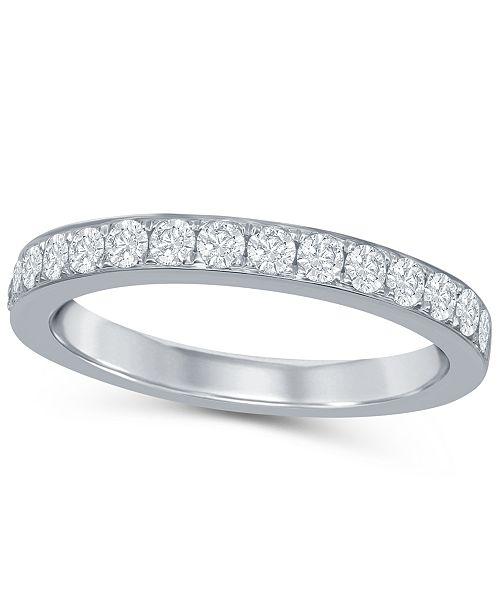 Macy's Diamond (1/2 ct. t.w.) Band in 14K White Gold