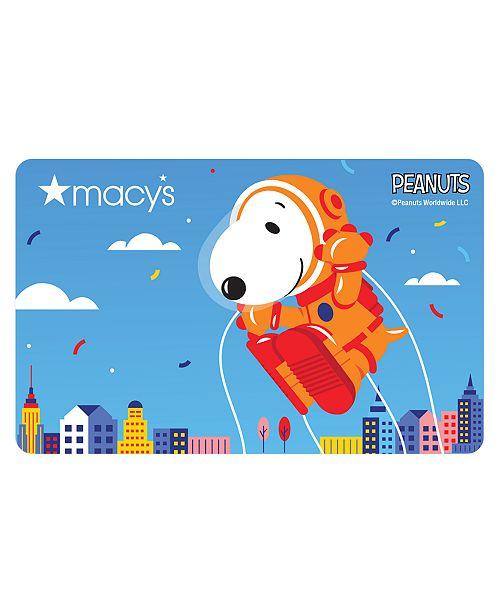 Macy's Peanuts Parade Balloon E-Gift Card