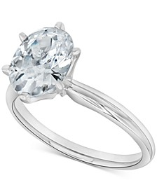 Diamond Oval Solitaire Engagement Ring (1-1/2 ct. t.w.) in 14k White Gold