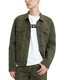 Men's Limited Collection Cotton Canvas Trucker Jacket, Created For Macy's