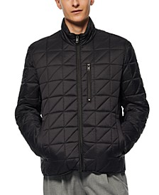 Men's Brompton Quilted Mid Bomber with Removable Sherpa Liner