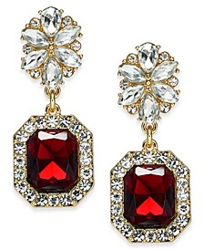 Stone & Crystal Drop Earrings, Created For Macy's