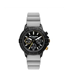 Men's Peak Patrol Gray Silicone Strap Chronograph Watch 42mm