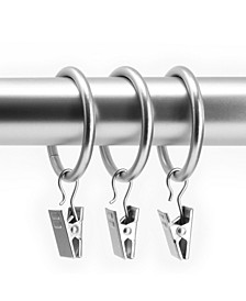 """Clip Rings Fits Rods 1 1/8"""" Diameter Curtain and Drapery Hardware, Pack of 12"""