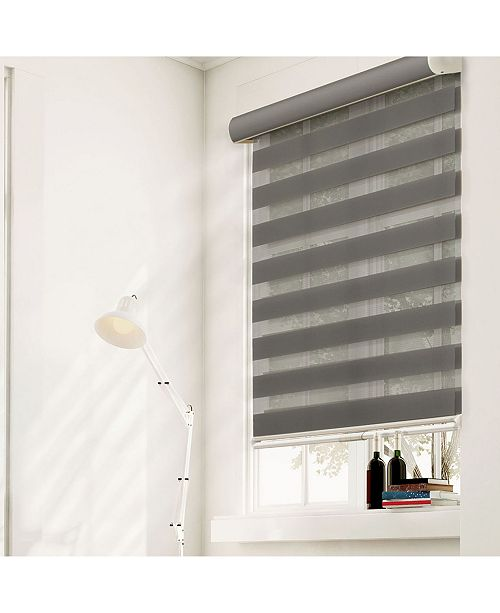 "Chicology Cordless Zebra Shades, Dual Layer Combi Window Blind, 41"" W x 72"" H"
