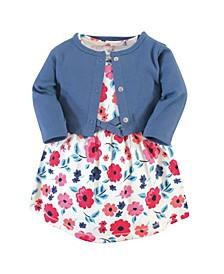 Toddler Organic Dress and Cardigan Set, 2 Piece
