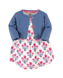 Baby Girl Organic Dress and Cardigan Set, 2 Piece