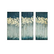 Madison Park Midnight Forest 3-Pc. Gel/Foil-Embellished Canvas Print Set