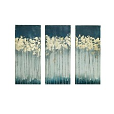 Madison Park Midnight Forest 3-Pc. Gel/Foil-Embellished Canvas Print Set